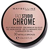 Maybelline New York Face Studio Chrome Jelly Highlighter, bronze, 38 g