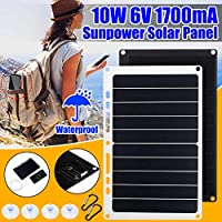 Solar Panel Car Charger 10W 5V Solar Car Battery Maintainer Charger for 12V Battery of Vehicle Boat Motorcycle