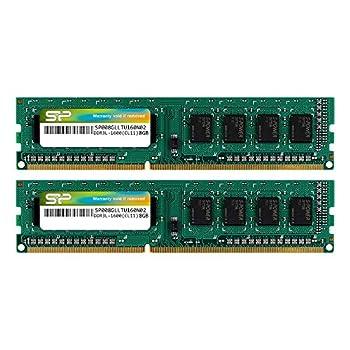 Silicon Power DDR3 16GB  2 x 8GB  1600MHz  PC3 12800  240-pin CL11 1.35V / 1.5V Unbuffered UDIMM PC Computer Desktop Memory Module Ram Upgrade