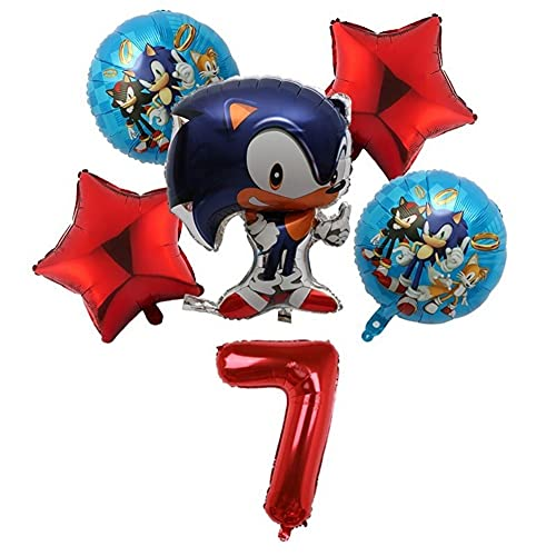YSJJSQZ balloon 6Pcs/set Sonic Foil 30inch Number 1-9 Foil Balloons Birthday Party Inflatable Ball Baby Shower Decoration Balloon Party decoration (Color : Camouflage)