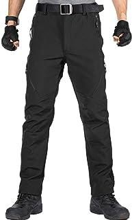 FREE SOLDIER Pantaloni da Uomo Multi-Tasca da Esterno Pantaloni Cargo in Teflon Pantaloni Tattici Impermeabili Pantaloni da Arrampicata da Trekking/…