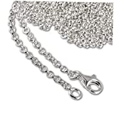 SilberDream FC00281-1 - Cadena de plata de ley 925 para colgantes y pulseras (100 cm)