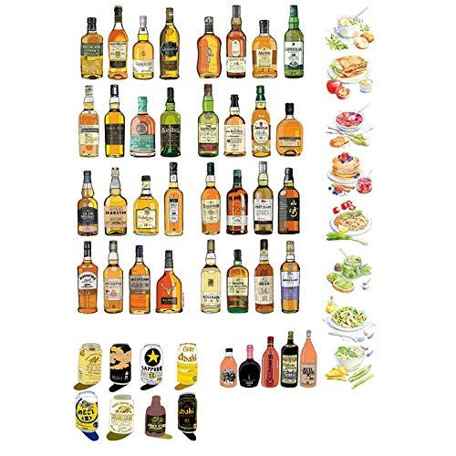 BLOUR Collezione di Birre Decorazione Decorazione Non Tagliata Estetica Autocollante Il Mio Account Stikers Scrapbook Diario di Viaggio Planner adesivi2 Pz/Lotto