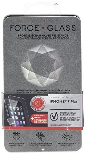 forceglass–Protector de Pantalla de Cristal Templado Curvado para iPhone 7Plus