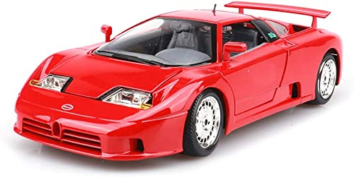 JIANPING Auto modell auto 1 18 Bugatti EB110 simulation legierung druckguss spielzeug schmuck sportwagen sammlung schmuck rot 24x10x5,5 CM Modellauto