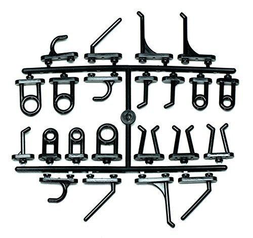 acerto 40362 44 Lochwandhaken für Metall-Werkzeugwand * Solide Kunststoff-Haken * Verschiedene Ausführungen * Eurolochung | Hakenset, Haken-Sortiment für Lochwand & Werkstattwand | Lochplatten