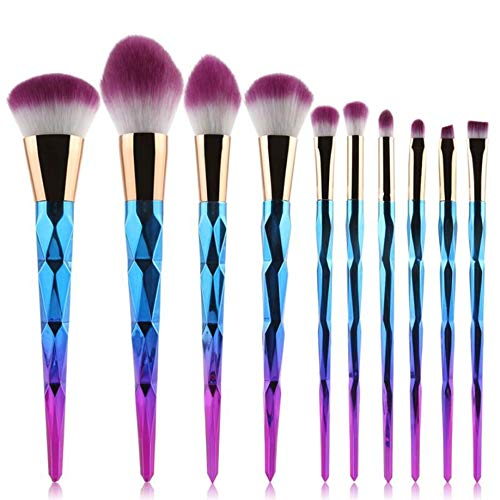 MEIYY Pinceau de maquillage 10Pcs Professional Makeup Brushes Foundation Eyebrow Eyeliner Blush Cosmetic Concealer Brushes Wholesale