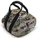 Brute Force Kettlebells: Adjustable Kettlebell in Black, The Perfect Workout Equipment for Home + Crossfit Equipment, Sandbag Training with Sand Kettlebells