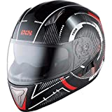 IXS Integralhelm Motorradhelm Helm Motorrad Mopedhelm X-Helm HX 1000 Tron Schwarz/Rot/Grau S,...