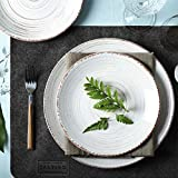 Saltibo ® Platzsets – Abwaschbare Tischsets – Platzdeckchen mit Rutschfester Rückseite – 18-teiliges Filzset mit Glasuntersetzer und Bestecktasche - 9