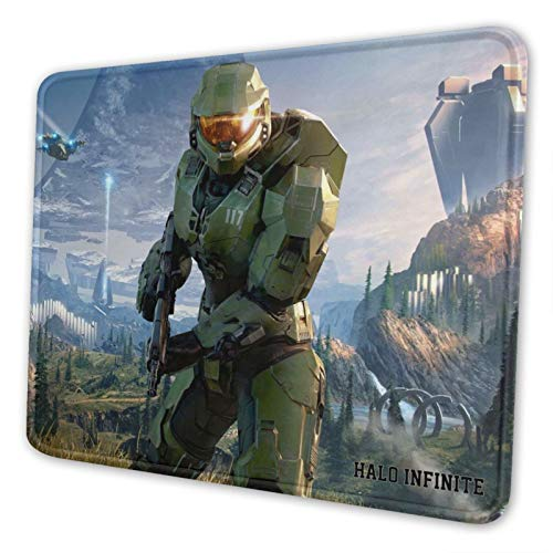 H-God Halo Infinite Pack Mouse Pad with Stitched Edge, Mouse Pad with Non-Slip Rubber Base, Mouse Pads for Computers, Laptop, Gaming, Office & Home, 8.3 X 10.3 in