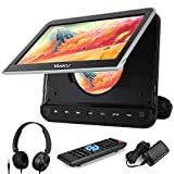 "Vanku 10.1"" Car DVD Player with Headrest Mount for Kids, HDMI Input, Headphone, Support 1080P Video, USB SD, AV in Out, Last Memory, Region Free"