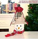 WERNG Joyeux Noël Décor pour La Maison Santa Claus Couverture De Bouteille De Vin De Noël Décor De Table Cristmas 2019 Noël Noel Bonne Année 2020 Pastèque Rouge