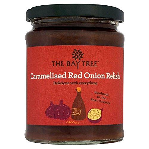 Das Bay Tree Food Co. Relish karamellisierten roten Zwiebeln (310g) - Packung mit 6