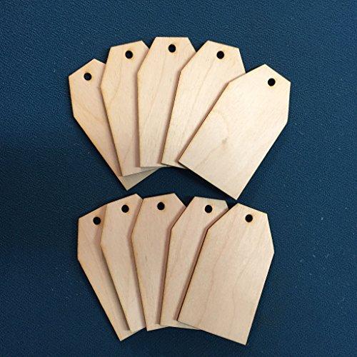 10x houten sleutelhanger geschenkprijs tags leeg ambacht klaar om te schilderen en te versieren