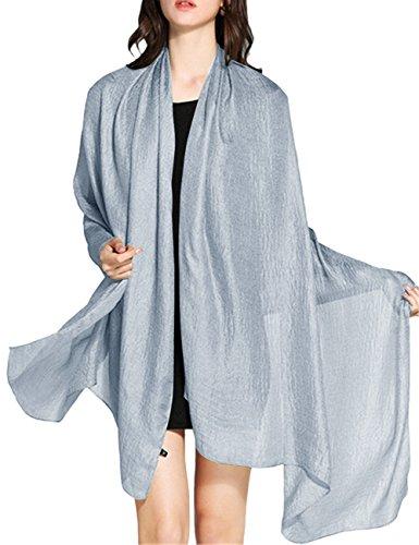 Wedtrend WedTrend Hochwertig Schlicht Flachs Stola Schal für Kleider in verschiedenen Farben WTC30002 Light Grey 190 * 100cm