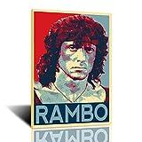 Rambo Poster Tin Logo Classic Movie Bar Movie Wall Metal Retro Wall Decoration 12x16 Inch