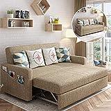 Sofá convertible contemporáneo de lujo Sofá de sofá cama, Tela acolchada con sofá cama con cama extraíble y gran espacio de almacenamiento, Muebles de salón de sofá perezoso de protección,F,1.75m