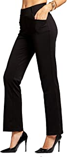 Conceited Premium Women's Stretch Dress Pants - Slim or Bootcut - All Day Comfort in Solids and Pinstripes