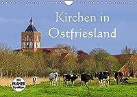 Kirchen in Ostfriesland (Wandkalender 2022 DIN A4 quer): Eine Auswahl der schoensten Kirchen an der Nordseekueste (Geburtstagskalender, 14 Seiten )