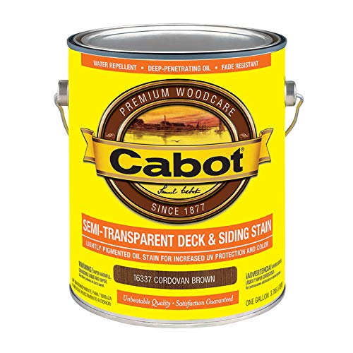 Cabot Semi-Transparent 16337 Cordovan Brown Oil-Based Penetrating Oil Deck and Siding Stain 1 - Case of: 4; Each Pack Qty: 1;