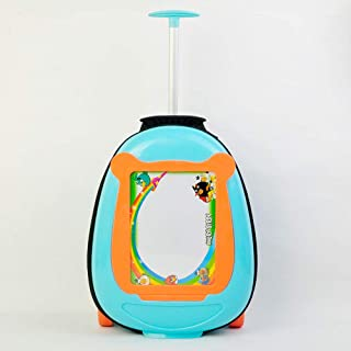 YCYHMYF Can Draw Can Pull Back Children Trolley Suitcase Student 16 Inch Schoolbag