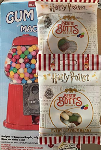 Kauwgom automaat rubberen bal automaat spaarpot + 108g Bertie Botts Harry Potter Jelly Belly Beans