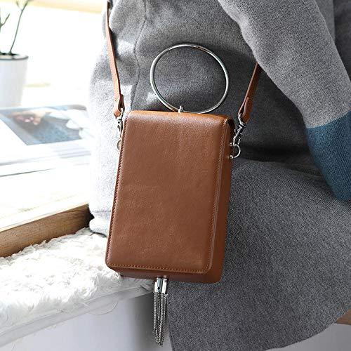 Kleine Tasche weibliche Mode Persönlichkeit Handtasche Umhängetasche Messenger weibliche Tasche-Kaffee