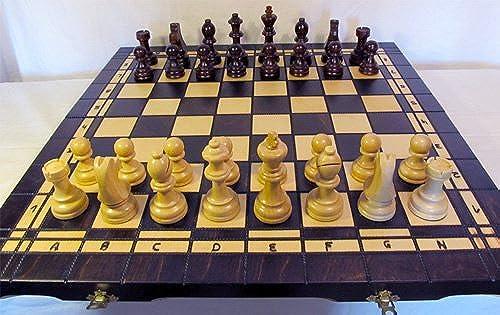 Chessebook - Ajedrez + Damas + Backgammon Tablero de 52 x 52 cm