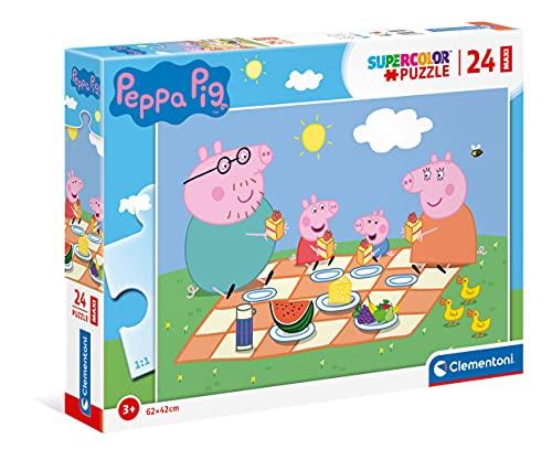 Clementoni Peppa Pig Supercolor Puzzle, No Color, 24 Pezzi, 24028