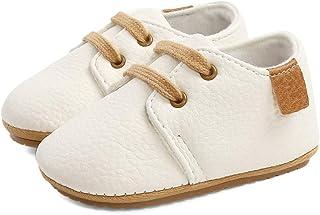 LACOFIA Zapatos Oxford con Cordones para Bebé Niños Zapatillas Primeros Pasos Antideslizantes para Bebés