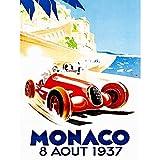 Wee Blue Coo Advert Racing Car Monaco 1937 Grand Prix Art