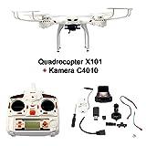 FunTomia Quadcopter MJX X101 RC Drone con caricabatterie + fotocamera (bianco)...