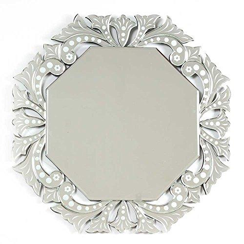 Indian Shelf 1 espejo veneciano de cristal transparente hech