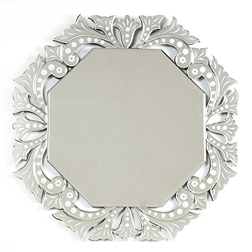 Estante indio hecho a mano vidrio decorativo ornamental octogonal espejo veneciano en línea