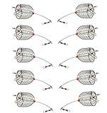 Mimilure 10Pcs/Pk Carp Fishing Bait Trap Cage Feeder Basket Holder Coarse Lure Feeder Carp Fishing Tackle Kit,Size L/M/S Available (M)