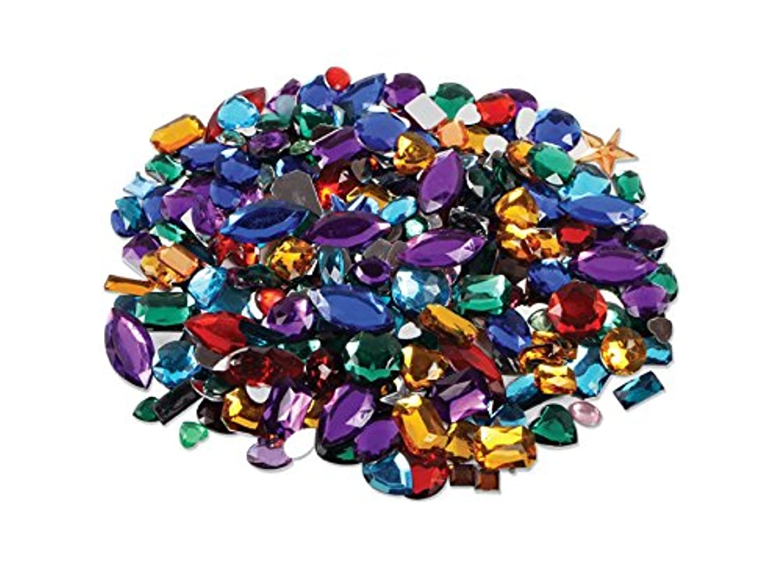 Colorful Acrylic Gemstones / Jewels (approx. 250 pieces) Assorted Flat Backed