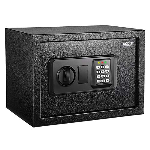 TACKLIFE Cassaforte a Muro,Digital Lock Box,Cassetta di Sicurezza a Chiave e...