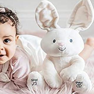 "Pee-ka-boo Plush Rabbit Soft Plush Toy Baby Shower Gifts Toys Plush Puppets ,Animated Plush Stuffed Animal Toy, Cream, 12"""