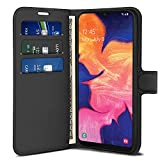 Venoro Case for Galaxy A10e, Leather Wallet Case with Flip Cover Shockproof Leather Card Pockets, with Credit Card Slot Holder for Samsung Galaxy A10e 5.8 inch