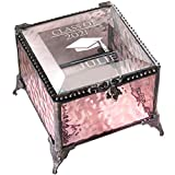 Personalized Graduation Gift For Her Glass Jewelry Box Engraved Keepsake For High School Graduate Or College Grad Class Of 2021 Daughter Granddaughter Girl Friend J Devlin Box EB240 (Pink)