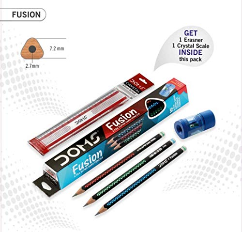 DOMS Fusion X-TRA Super Dark Bleistifte, 5 Stück