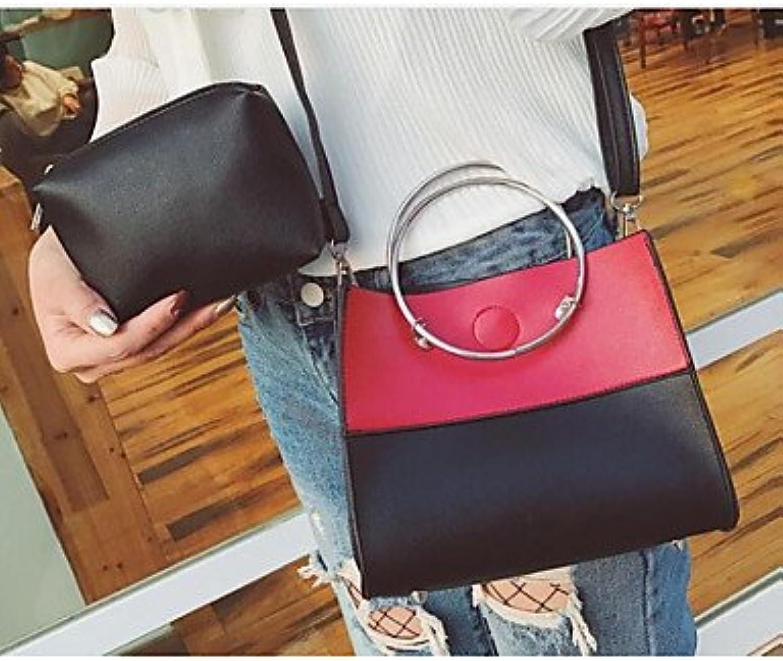 W&P Women Bags PU Clutch Zipper for Casual All Seasons White Red Yellow