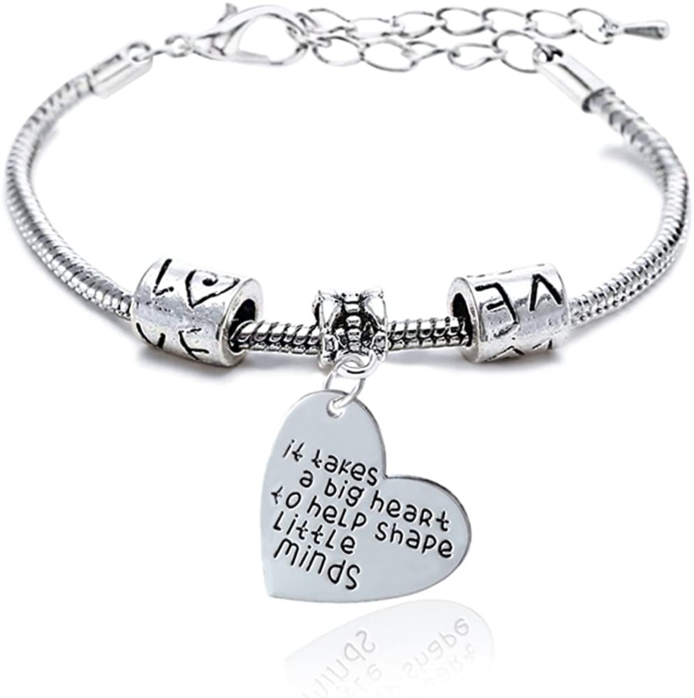 New color It Takes a Omaha Mall Big Heart to Minds Adjustable B Teach Bracelet Little