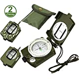 Best Lensatic Compasses - 2 Pieces Military Lensatic Sighting Compass Metal Sighting Review