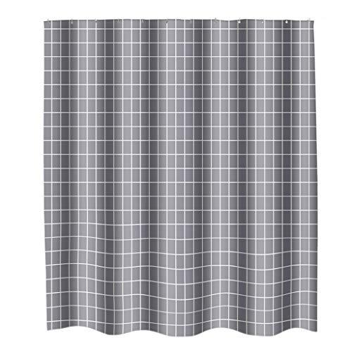 Brizz Douchegordijn, nieuw waterdicht 180 x 200 cm grijs