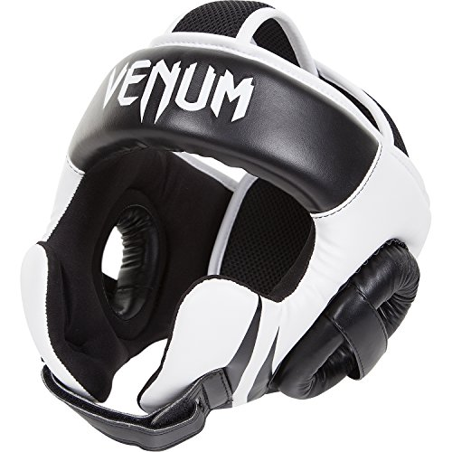 Venum Challenger 2.0 Casco de boxeo Hook & Loop, Unisex adulto, Negro/Blanco