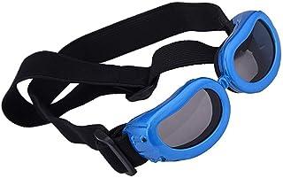 HUI JIN Lunettes de Soleil pour Chien Anti-UV Imperméable Coupe-Vent Protection des Yeux pour Petit Animal Bleu