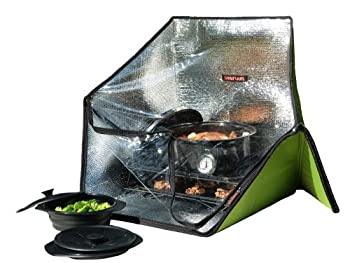 Sunflair Portable Solar Oven Deluxe with Complete Cookware Dehydrating Racks and Thermometer