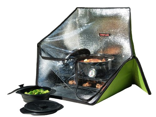 Sunflair Portable Solar Oven Deluxe with Complete Cookware, Dehydrating Racks,...